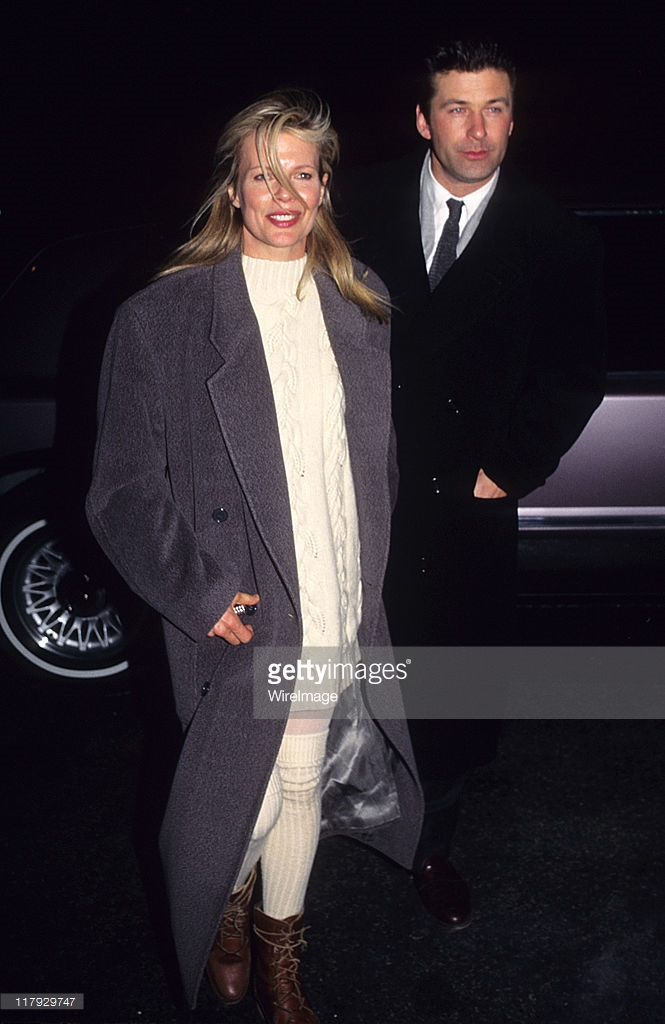 Kim Basingera at Elaines Restaurant in New York City for Knicks Game on 1995-01-10
