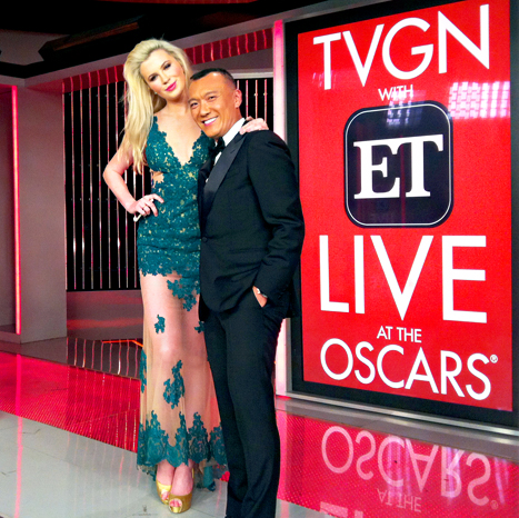 2014-02-24 Ireland Baldwin Joins TVGN and Entertainment Tonight as Oscars Fashion Correspondent