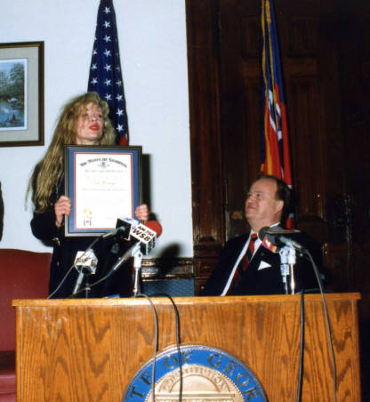 Kim Basinger receives outstanidg awards March 13th, 1990