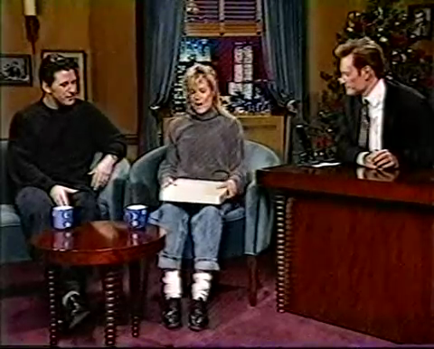 Kim Basinger Surprises Alec Baldwin during an interview (1993))