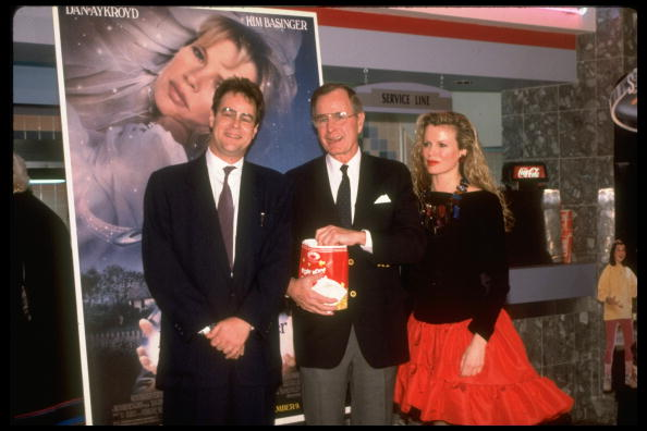 Kim Basinger - Dan Aykroyd - George Bush - My Stepmother Is An Alien Premiere (1988)
