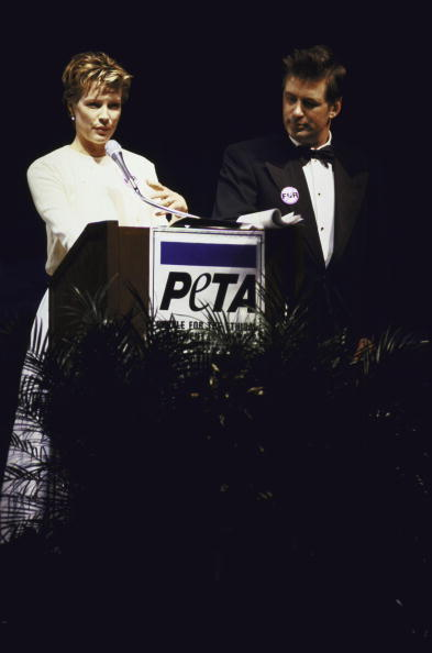 Kim & Alec during PETA Animal Ball on 1996-12-14