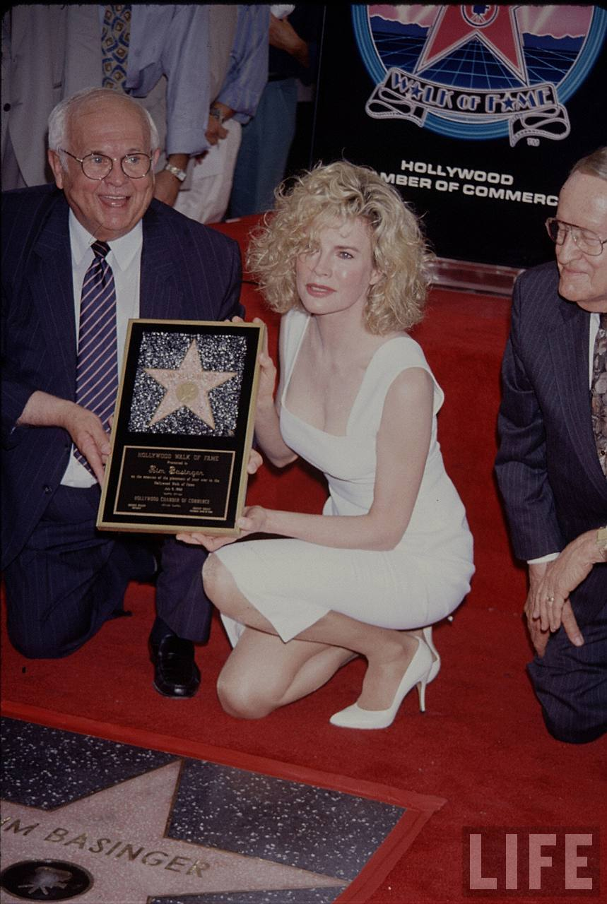 July 8, 1992 -  Kim received her star on The Hollywood Walk Of Fame, the pavement shrine's 1,959th