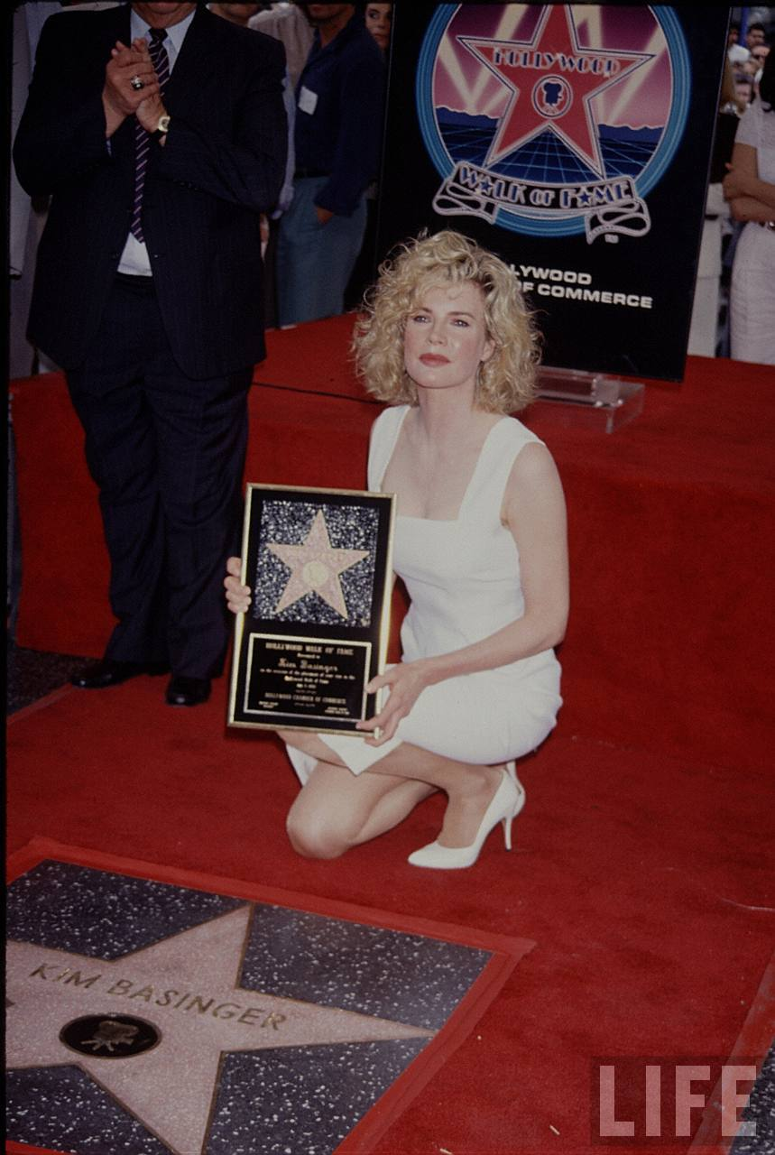 Kim Basinger Star on Hollywood Walk Of Fame 1992