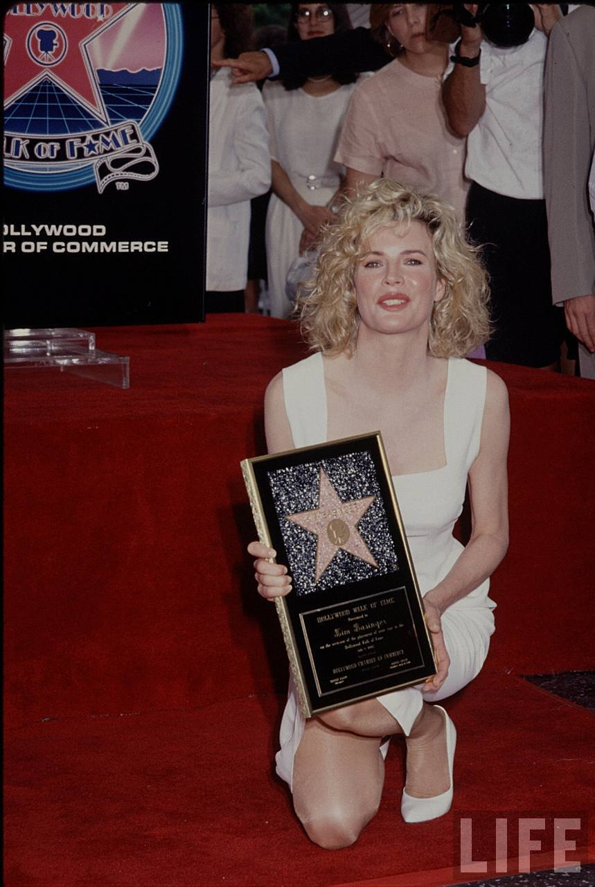 kim basinger receives a star on the hollywood walk of fame