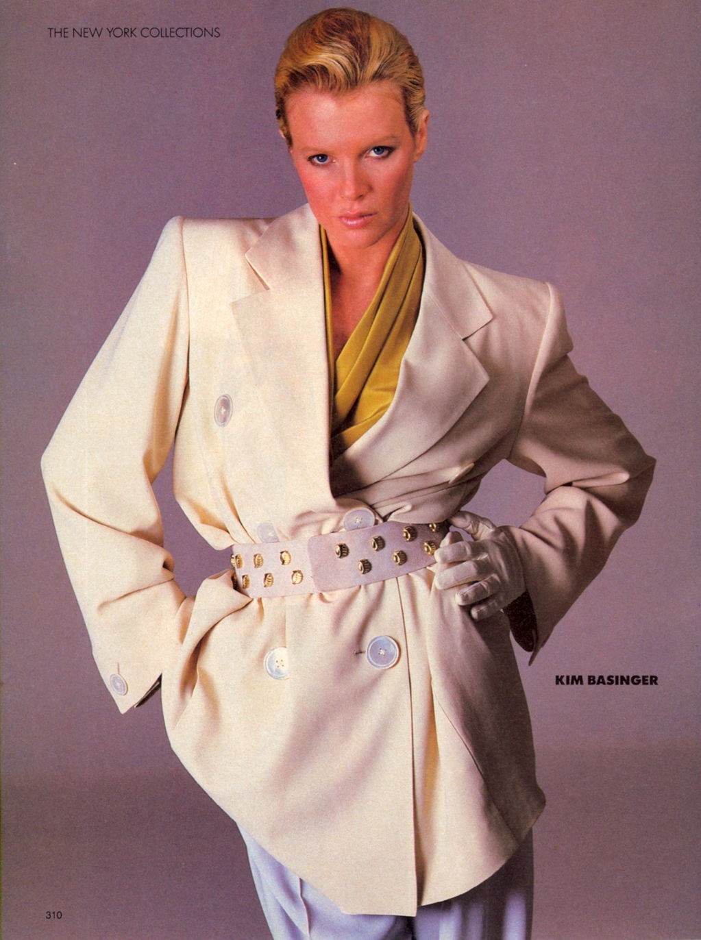 Kim Basinger Vogue 1985